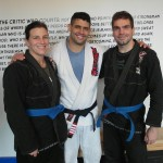 Hillary and Leo after training with Daniel Gracie.