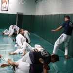One the mat at the Gracie Academy in LA.
