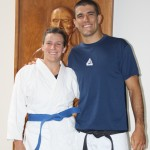 Hillary with Rener Gracie