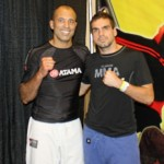 Royce Gracie with Leo after a seminar.
