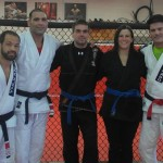 Sharing the mat with three legends, Helio Soneca, Ricco Rodriguez, and Jean Jacques Machado